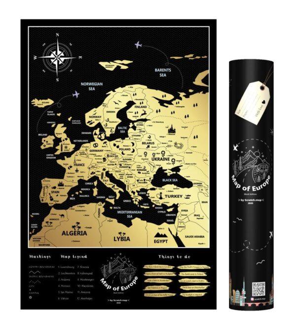 Mapa Zdrapka Europy