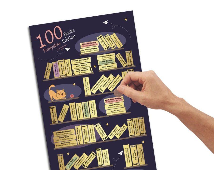 Plakat Zdrapka 100 książek
