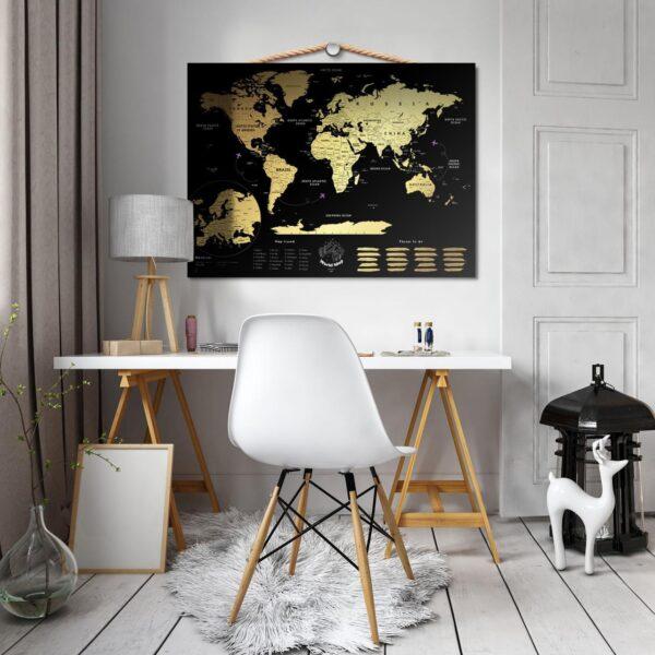 Mapa Świata Zdrapka